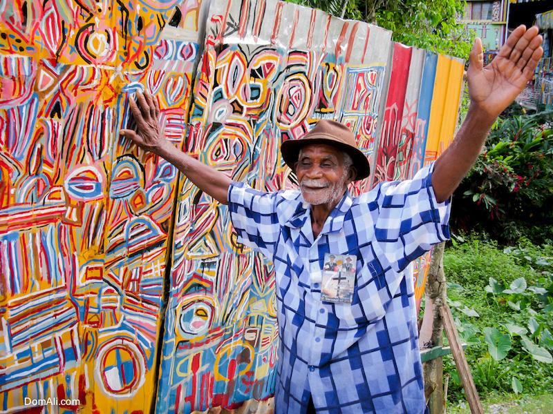 art, artist, colorful, colors, eccentric, fence, house, Jamaica, pastor, pattern, zinc