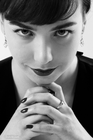 audrey, B&W, black and white, fashion, glamour, hepburn, model, portrait, toronto, woman