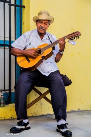 busker, cuba, festival, flag, guitar, hat, havana, jazz, man, portrait