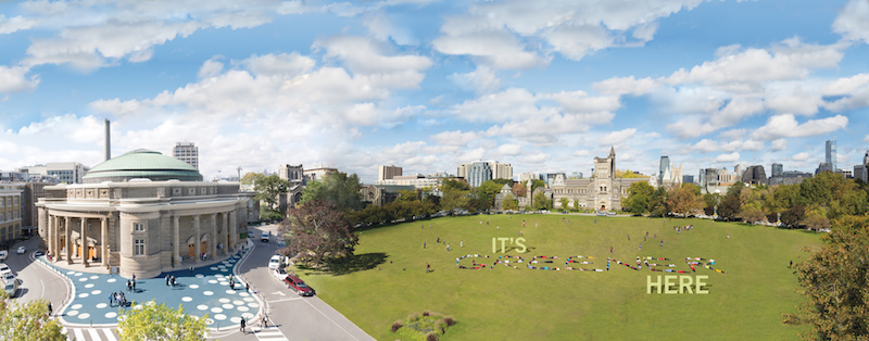 environment, front campus, greener, professor, students, sustainability, toronto, u of t, University, uoft